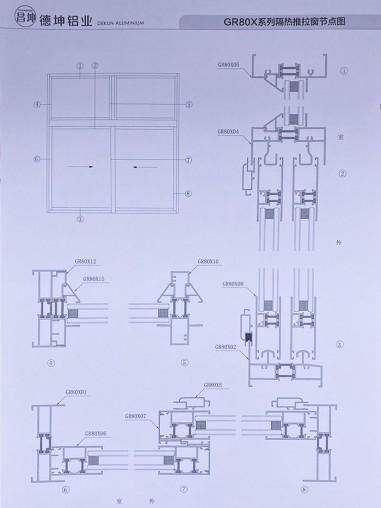 GR80X系列隔热平开门